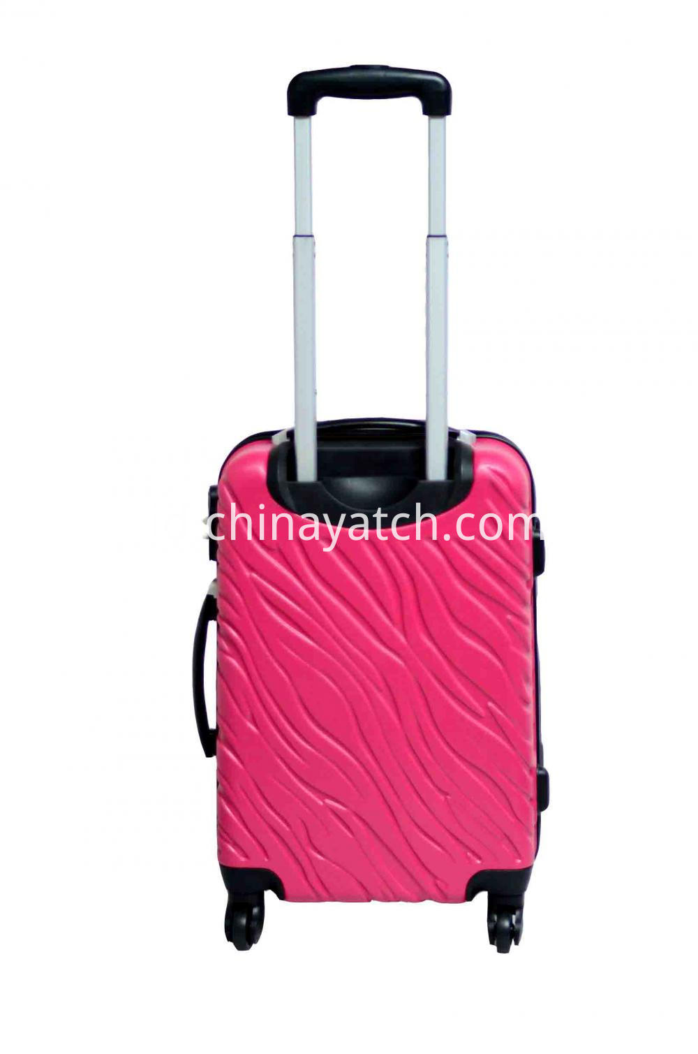 Fashion Grain Luggage with sliver iron tube
