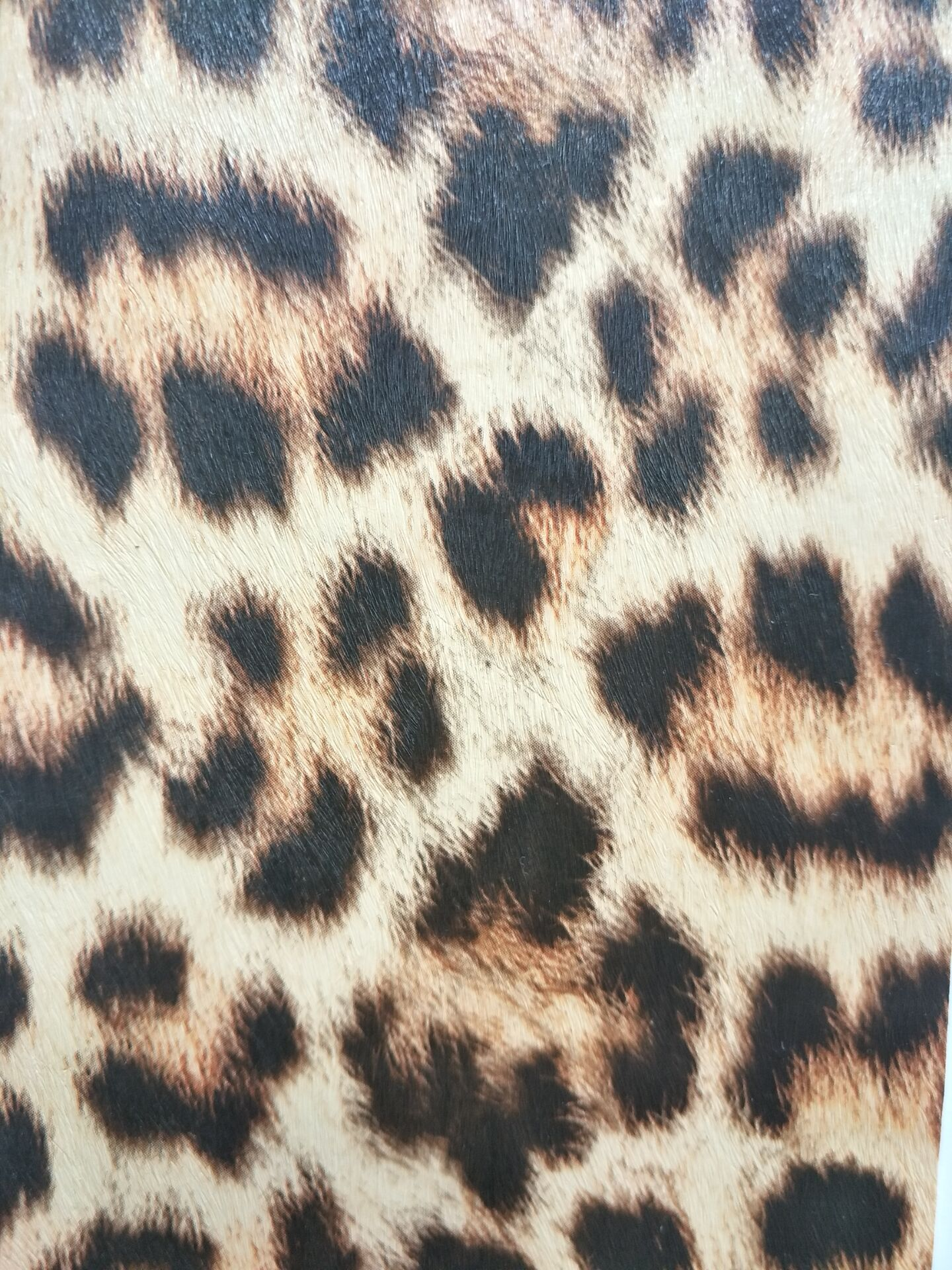 Printed small leopard print PU leather