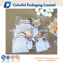 Custom cute self-adhesive tape packaging bags for cookie