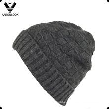 Men′s Jacquard Cuff Knit Beanie with Brim
