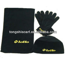 PT001 winter polar fleece scarf set
