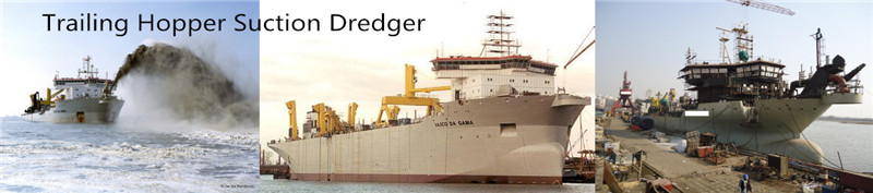 Suction trailing hopper dredgers