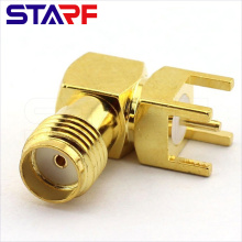 STA 90degree Right angle SMA Female Through Hole PCB Mount connector