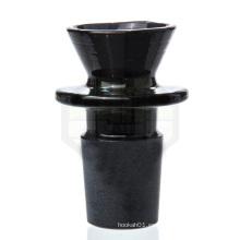 Vidrio de mercado negro - 18mm Negro Bowl masculino para fumar (ES-AC-007)
