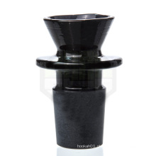 Black Market vidro - 18 milímetros Black Male Bowl para fumar (ES-AC-007)