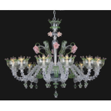 Forma de flor transparente lustre de vidro moderno (81068-12)