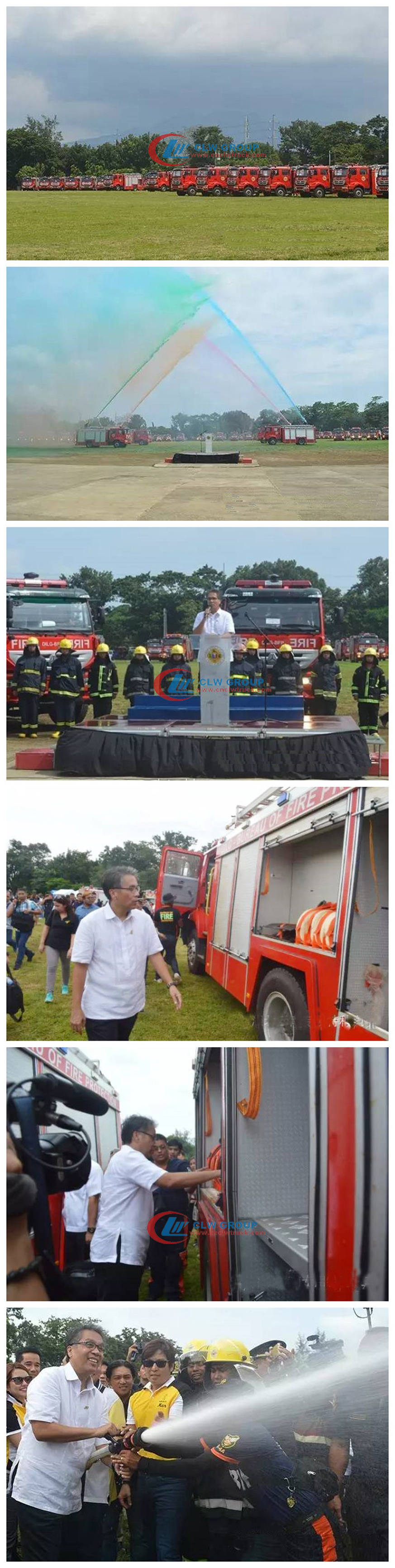 fire fighting truck delivery to phillippines