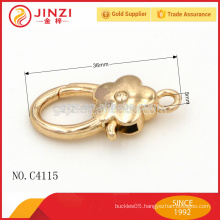 bolt snap hooks,fittings for handbags, flower shape snap hook C4115