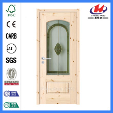 Jhk-G06 Favio Greenfield Glass Panel الأبواب الخشبية