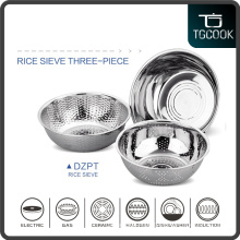 201 Stainless steel 3 pcs set colander,multi-use strainer, stainless rice sieve