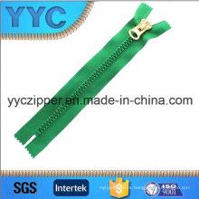 Yyc cremallera de plástico cremallera dientes grandes con control deslizante personalizado