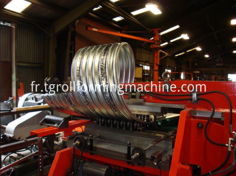 Metal Drain Pipe Culvert Machinery