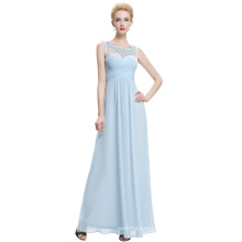 Starzz Sleeveless Light Blue Chiffon Long Bridesmaid Dress ST000060-5