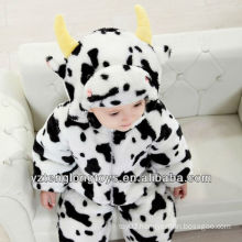Warm Winter Promotional Plush Cow Baby Romper