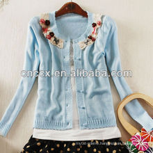 13STC5401 flowers button down women cardigan sweaters
