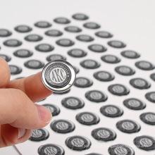 Impressão de adesivo epóxi claro personalizado promocional