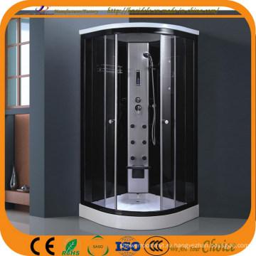 Черная алюминиевая рама Низкие базовые паровые душевые кабины (ADL-827)