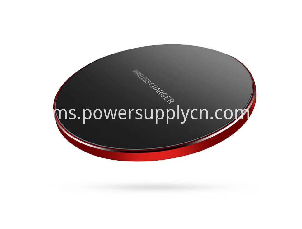 Super Slim 4 95mm Aluminium Alloy 10w Wireless Charger High End Metal Shell Fast Wireless Charging Pad