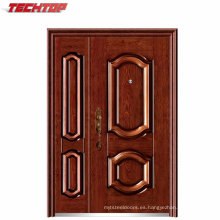 TPS-127sm Hot Sale Heat-Transfer Wood-Like Steel Panel Puertas Single