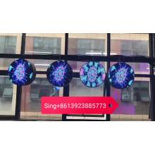 led double side board round display