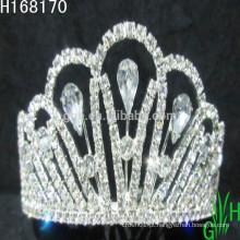Tiaras e coroas em prata por atacado de strass