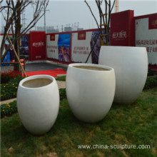 Modern garden High quality fiberglass Sculpture-flower pot