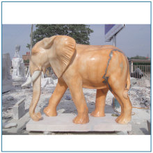 Nature Marble Life Size Elephant Statue For Sale