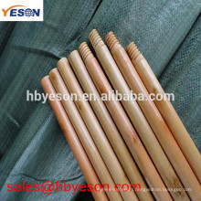 Balayeuse de rue / manche en bois vernis / manche italienne à billes en bois