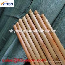 Vassoura de rua vassoura / maçaneta de madeira envernizada / parafuso italiano maçaneta de vassoura de madeira