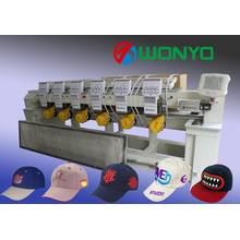 Gute Qualität 6 Head Computerized Stickmaschine für Cap / T-Shirt / flache Stickerei