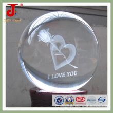Bola de gravura com laser de cristal interno (JD-CB-104)