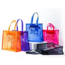 2020 Fashion Large Clear PVC Tote Bag Beach Bag Plastic Shopping Bag with Own Logo