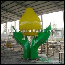 Sculpture de fleur en acier inoxydable VSSSP-038L