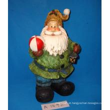 Resina Antique Papai Noel para Decoração de Natal