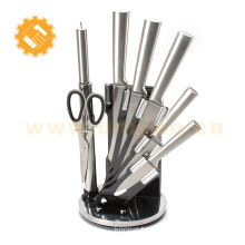 Hot products kitchen knives wholesale chef knife set with acrylic