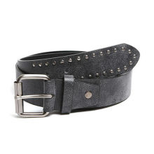 Rivet men roller buckle leather belts