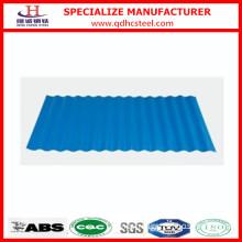 Blue Color Corrugated Steel Roof Tiles