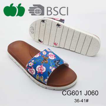 Good Quality Newest Printing Ladies Beautiful Slippers