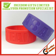 Fashional Style Top Quality 25MM large bracelet en silicone