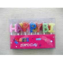 Happy Birthday brief Cake Pick Set kaars