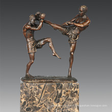 Statue sportive Sanshou / Sanda Players Bronze Sculpture, Milo TPE-771
