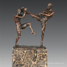 Sports Statue Sanshou/Sanda Players Bronze Sculpture, Milo TPE-771