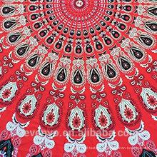 100% полиэфира модная премиум круглый пляжные полотенца для взрослых