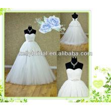 China A-Linie Spitze und Tüll Dridal Kleid mit Sweathreat Ausschnitt und Reißverschluss zurück