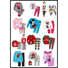 Casual Long Sleeve Set Boys′ Cotton Superman Children′s Homewear Pajamas