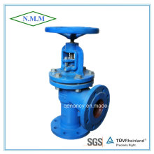 Cast Iron Flange Ends Angle Type Globe Valve