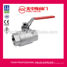 2PC Stainless Steel Ball Valves 1000PSI NPT Ball Valve