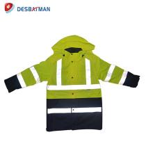 Le trafic de sécurité de haute visibilité porte réfléchissant veste de sécurité d'hiver