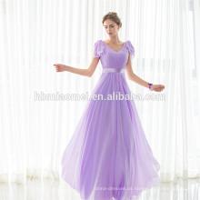 China Fornecedor Moda Mulheres Andar de Comprimento Design Sem Encosto Árabe Vestido de Noite Para Western Party Wear