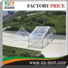 Klare Top-Plastik-Hochzeitszelt mit Aluminium-Pole-Material und PVC beschichtetes Polyester-Gewebe für 500 Leute